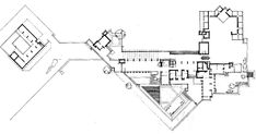 Frank Lloyd Wright's Taliesin West floor plan in Arizona. Architecture Quotes, Architecture Panel, Praire Style Homes, Falling Water House, Frank Lloyd Wright Homes, House Floor Plans, Planer, How To Plan, Arizona