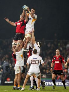 Liam Messam and Brad Thorn - Super Rugby Rd 14 - Crusaders v Chiefs