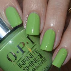 Would you try To the Finish Lime! OPI by Rikki? Vote on Preen. Summer Nail Polish, Opi Nail Polish, Opi Nails, Manicure, Mani Pedi, Kylie Jenner Nails, Nail Colors, Colours, Nail Time