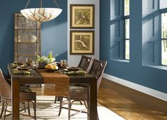 This is the project I created on Behr.com. I used these colors: REGATTA BAY(550F-6),