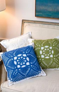 Pretty Pillows Crochet Pattern - There's nothing prettier than a lacy pineapple design that has been hand crocheted. Showing your handiwork on a pillow is a beautiful statement of your artistry.