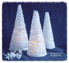 Christmas Crafts, Christmas Decorations, Doilies, Snowflakes, Origami, Led, Traditional, Ornaments, Knitting
