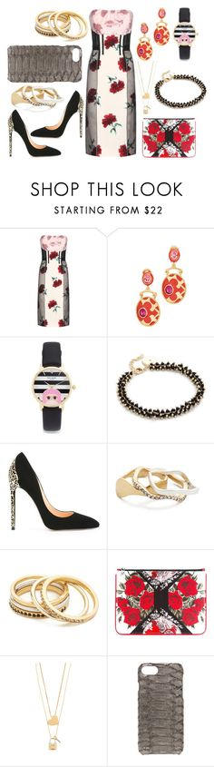 """""""Flowery Fit"""" by hillarymaguire ❤ liked on Polyvore featuring Oscar de la Renta, Kate Spade, Elizabeth and James, Cerasella Milano, Madewell, Alexander McQueen, Tory Burch, Valenz Handmade, fabulous and fashionset"""