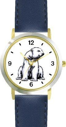 Polar Bear Animal - WATCHBUDDY® DELUXE TWO-TONE THEME WATCH - Arabic Numbers - Blue Leather Strap-Children's Size-Small ( Boy's Size & Girl's Size ) WatchBuddy. $49.95