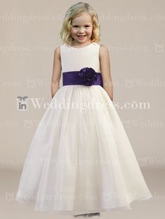flower girl dresses | Home / Formal Ball Gown Flower Girl Dress with Sash and Bow Fl192