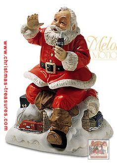 Melody In Motion Santa Collection Coke Santa, Coca Cola Santa Claus, Christmas Scenes, Christmas Art, Vintage Christmas, Xmas, Vintage Santa Claus, Vintage Santas, Santa Pictures