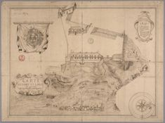Map of Fort Saint-Louis in 1683