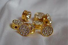 Korálky - Shamballa kruh zlatý, 0.73€/ks - 3909058_