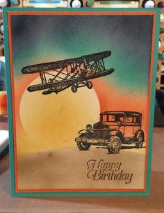 Stampin Up Sky is the Limit and Guy Greetings