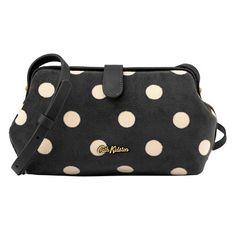 Button Spot Velvet Frame Cross Body Bag