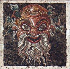 Театральная маска. Инв. С № 109687. Неаполь, Национальный Археологический Музей