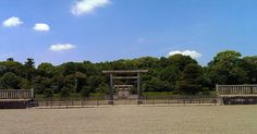 This is the tomb of Jimmu-Tenno the first Emperor of Japan in Kashihara Nara Prefecture.  He is said to have reigned between 660 and 585 BCE though he did not receive the name Jimmu until more than 1000 years later.  According to the Nihon Shoki one of the earliest accounts of Japanese history his name was Kamu-Yamato-Iware-Hiko-Hoho-Demi-no-Sumera-Mikoto. His maternal grandfather was a god of the sea called Owatatsumi and on his father's side he was descended from Amaterasu goddess of the…