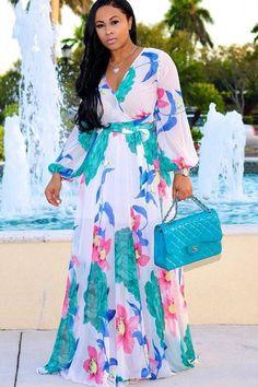 White Flowers Draped V-neck Bohemian Beach Chiffon Maxi Dress Chiffon Maxi Dress, White Maxi Dresses, Casual Dresses, Summer Dresses, Party Dresses, Mini Dresses, Dresses Dresses, Floral Dresses, Short Long Dresses