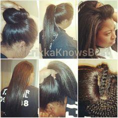 Crochet+Braids+with+Kanekalon+Hair | Knotless crochet braids with Kanekalon hair