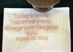 Personalized Wedding Gift Father of the Bride by EmbroiderybyLinda, $23.00