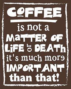 Studio Kookii Coffee Quote 8x10 Print by StudioKookii on Etsy, $7.00