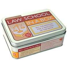 A perfect gift for the graduate in your life, this charming box contains a playful overview of law school.    Product: Law school in...