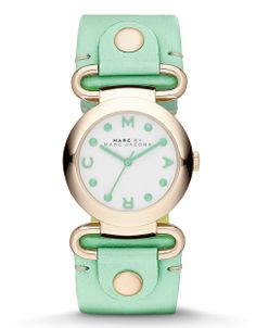 Molly Gold With Minty Green Leather Strap by Marc by Marc Jacobs | Hudson's Bay