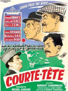 Courte tête est un film réalisé par Norbert Carbonnaux avec Fernand Gravey, Jacques Duby sorti en 1955. Des turfistes escrocs tentent de profiter de la naïveté d'un provincial pour réaliser quelques bénéfices.