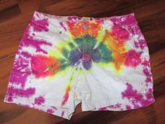 Faded Glory Tie Dyed Short Shorts Size 10 #FadedGlory