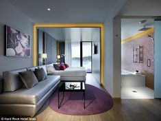 Fresh look: The resort is the first Hard Rock Hotel to open in Europe...