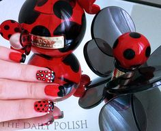 Marc Jacobs Dot Inspired Nail Art by The Daily Polish