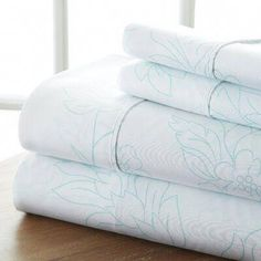 The Becky Cameron Vine sheet set is designed with your comfort in mind. Add a designer accent to your bedroom decor. Made of the finest imported double-brushed microfiber yarns creating a new standard in softness and breathability, this