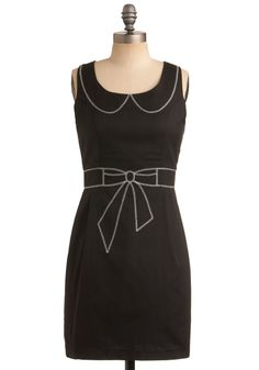 Drawing Conclusions Dress in Onyx | Mod Retro Vintage Printed Dresses | ModCloth.com