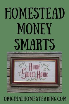 HOMESTEAD MONEY SMARTS is about implementing small changesthat can add up to big savings. Evaluate your income and expenses and see where you can make adjusts to protect your hard earned money. Ways To Save Money, Money Tips, Money Saving Tips, How To Make Money, Hard Earned, Frugal Tips, Financial Tips, Alternative Energy, Personal Finance