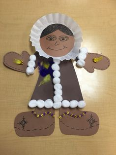 Inuit clothing craft made by grade 3 students. Social Studies Classroom, Teaching Social Studies, Inuit Clothing, Crafts To Make, Crafts For Kids, Canadian Clothing, Native American Projects, Third Grade Reading, Inuit Art