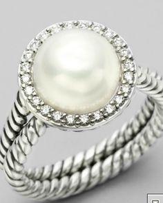 Yurman pearl and diamond ring.  I'll take it.