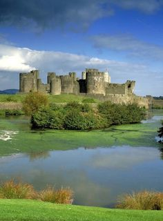 Caerphilly Castle,SouthEast Wales,largest concentric castle in Europe.
