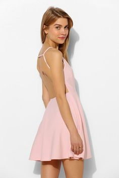 Oh My Love Strappy-Back Skater Dress #urbanoutfitters