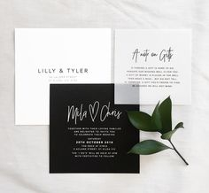 Modern wedding invitation | @whiteinkdesignco