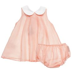 Fendi Baby Girls Orange Silk Dress and Knickers Set with 'FF' Print