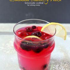 Homemade Blueberry Vodka and Lemonade Cocktail by Nutmeg Nanny