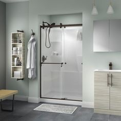 delta portman 48 in x 71 in sliding shower door - Delta Shower Doors