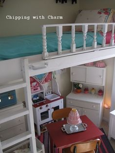 Low loft bunk. I can see putting the kitchen under his bed.  Great Kid Beds :: Julie at Build, Sew, Reap's clipboard on Hometalk :: Hometalk