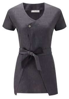 The madri beauty salon tunic reflects the style of for Spa uniform white