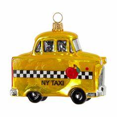 Joy To The World Yellow NY Taxi Ornament at Barneys.com #bnyholiday