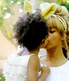 Beyonce gives her bunny Blue Ivy a smooch on Easter!