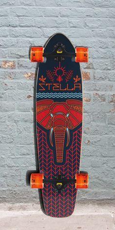 "Longboards USA - Stella Elephant Kicktail 42"" Longboard Skateboard, $109.00 (http://longboardsusa.com/stella-elephant-kicktail-42-longboard-skateboard/)"