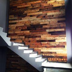 Timber Walls, Wooden Walls, Vertical Pallet Garden, Wood Pallets, Pallet Wood, Church Stage Design, Wood Storage, Wall Patterns, Creative Home