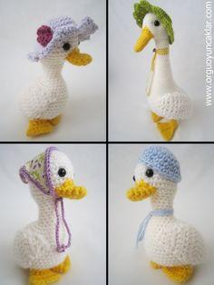 Amigurumi Mum and Baby Ducks Pattern by Denizmum on Etsy