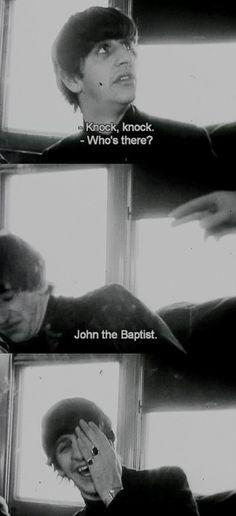 The daily adventures of Ringo Starr and John the Baptist Beatles Meme, Beatles Band, Les Beatles, Beatles Poster, Ringo Starr, John Lennon, Liverpool, The Quarrymen, Richard Starkey
