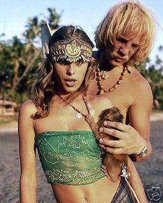 Uschi Obermaier And Dieter Bockhorn...REAL LIFE BOHEMIANS!  Check Out Their Life Story...Wow...  (I Think She Is Holding A Little Monkey)