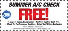 FREE Summer A/C Check!