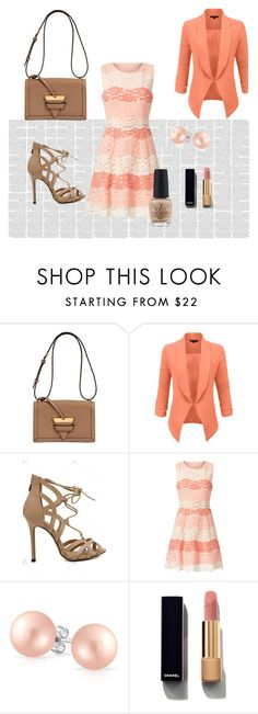 """""""girls night"""" by jasna91 ❤ liked on Polyvore featuring Loewe, LE3NO, ERIN Erin Fetherston, Bling Jewelry, Chanel and OPI"""