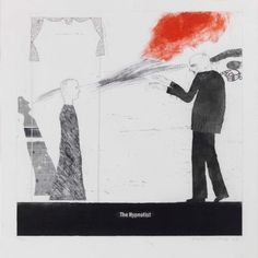 David Hockney, The Hypnotist Etching and aquatint printed in colours, 1963