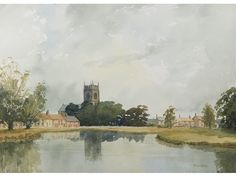 Great Massingham, Norfolk by Theo Else. Original vintage watercolour painting. #SOLD #saddlebackfineart #watercolour #norfolk #vintage #artforsale #art #artforsaleonline #collectart #artlover #affordableart Art For Sale Online, Uk Online, Scottish Islands, Affordable Art, Watercolours, Contemporary Paintings, Norfolk, Watercolour Painting, Online Art Gallery